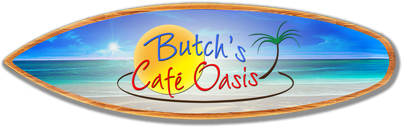 butch s cafe logo on surf board for website 1
